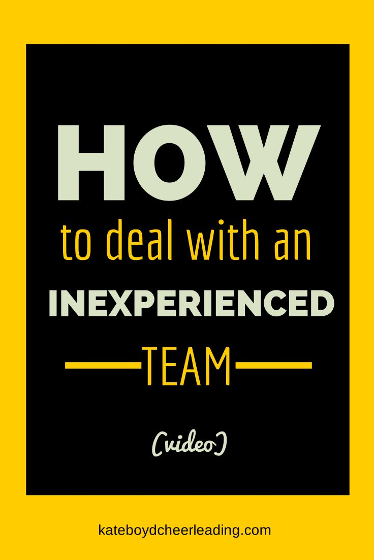 How to work with an unexperienced team #cheerleading