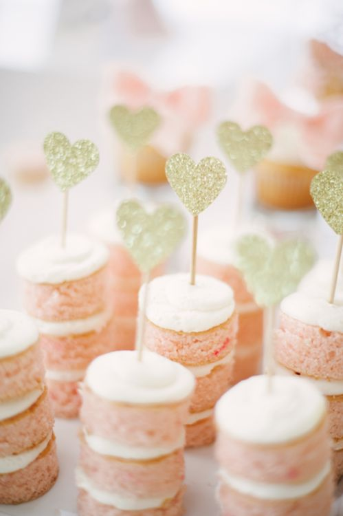 lovely mini cake desserts for a baby shower or a bridal shower