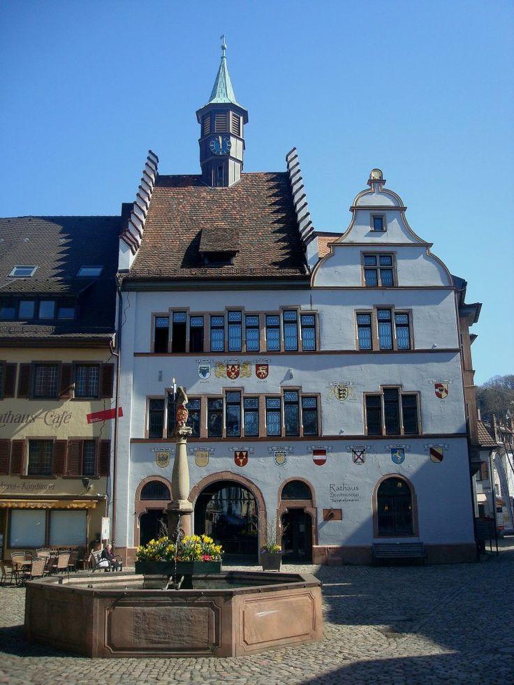Staufen im Breisgau, das Rathaus, der Ort wurde bereits im