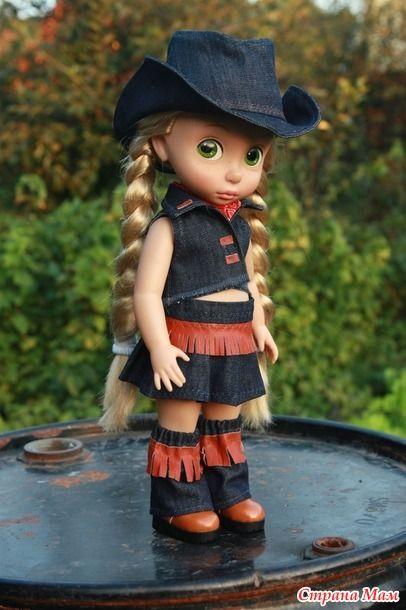 Наряды для кукол Дисней Аниматорс в ковбойском стиле.