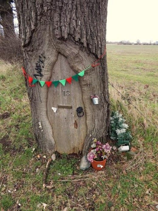 1000 Images About Tree Stump Fairy Elf Houses On