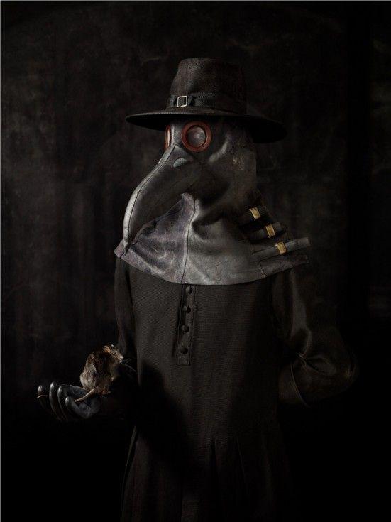Erwin Olaf, dutch photographer.   Pest Doktor (plague doctor). Isn't is fabulous?