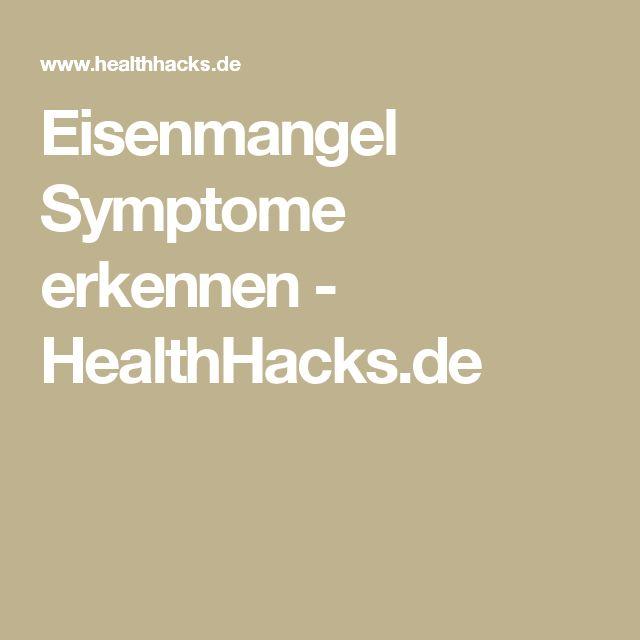 Eisenmangel Symptome erkennen - HealthHacks.de