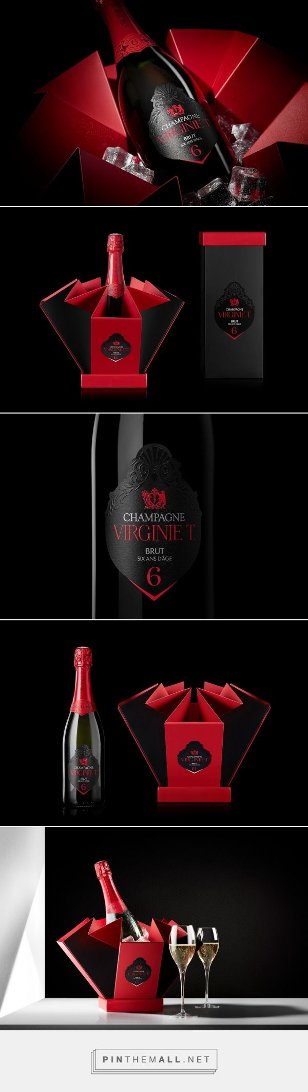 6 Year Old Vintage Virginie T. Champagne #packaging designed by 2S Global Design (France) - http://www.packagingoftheworld.com/2016/02/six-year-old-vintage-virginie-t.html