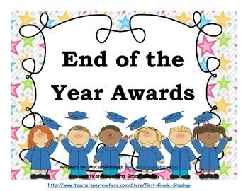 End of the Year Awards {21 Super Cute Awards- Pre-K/Kinder