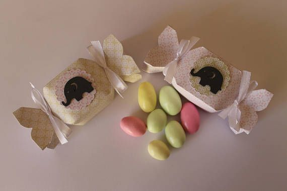 Scatolina porta confetti Caramella con Eleantino Boite a