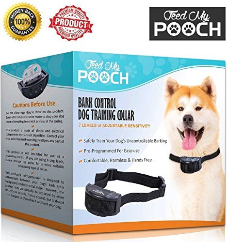 Dog Shock Collar - Hands Free Dog Training Bark Collar With 7 Feedback Levels & Adjustable Sensitivity Comfortable Fitting Shock Collar For Dogs Using Harmless Vibration, Safely Stop Dog Barking