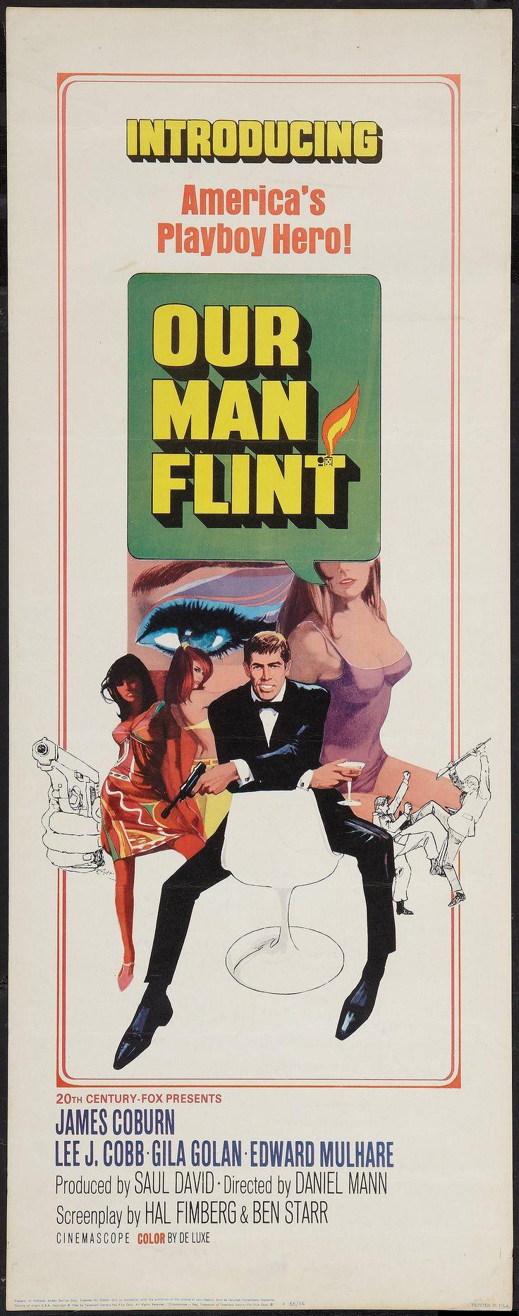 Our Man Flint (1966) Stars: James Coburn, Lee J. Cobb, Gila Golan, Edward Mulhare, Benson Fong, Shelby Grant ~ Director: Daniel Mann