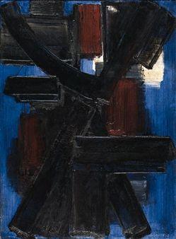 Peinture 15 octobre 1954 By Pierre Soulages