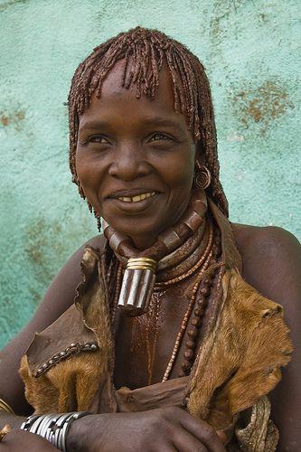 Hamer lady smiling, Ethiopia.  I love her sweet expression