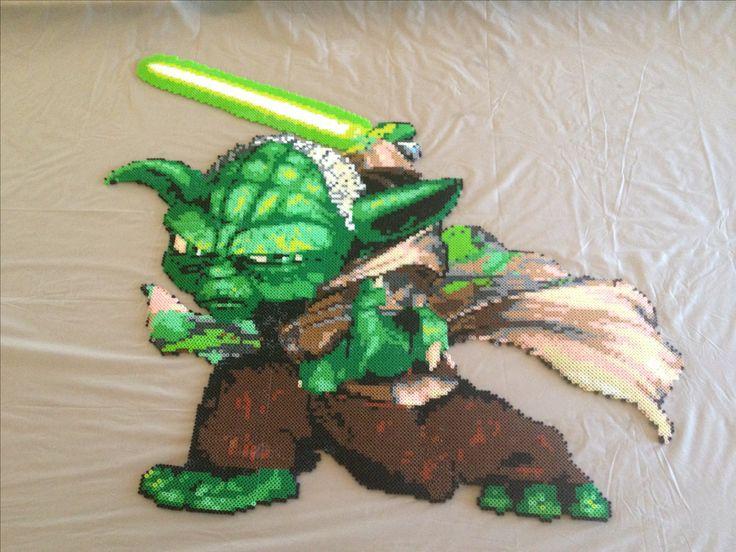 Yoda Star Wars perler beads (15K perler) by Ericka Leon