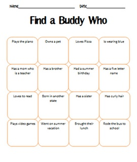 Cooperative Learning 365: Find a Buddy Who Bingo