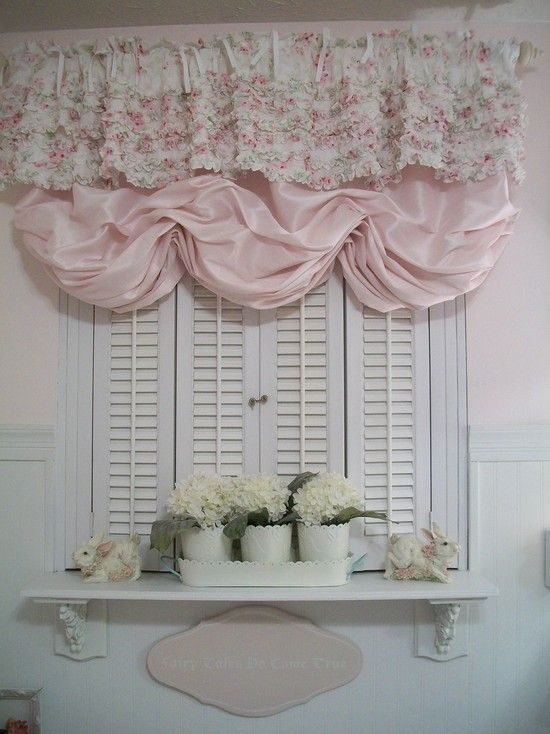Shabby Chic Bathroom Curtain Ideas : Best images about shabby chic bathrooms on