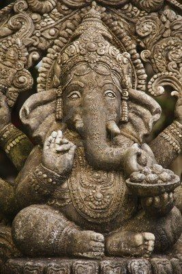 God ganesh statue of hindo in Bangkok Thailand temple Stock Photo