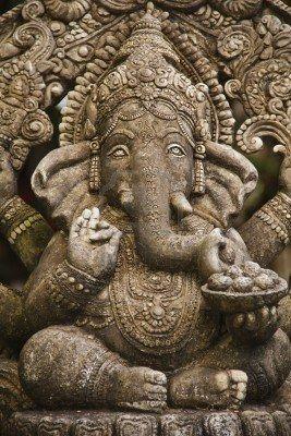 God ganesh statue of hindo in Bangkok Thailand temple Stock Photo
