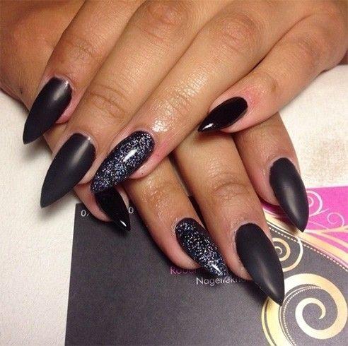 Simple Stiletto Nail Designs