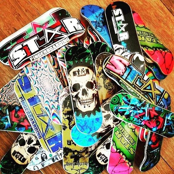 ONE CUSTOM Graphic Wooden Fingerboard Deck Made to order