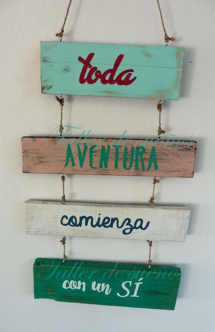 Nos gustan los carteles para decorar. De todos los estilos y colores, siempre quedan bien en bodas, eventos y para decoración de porches, ja...