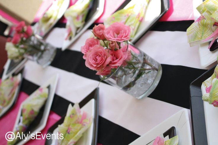 Center piece for guests table  Decor by Aly's Elegant Occasions