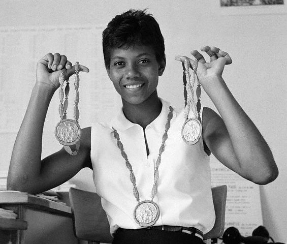 The first female athlete I can recall learning about.  Wilma Rudolph paved the way for African-American athletes, both men and women, who came later. She also overcame some seriously ridiculous odds to win 3 Golds at the 1960 Rome OIympics.