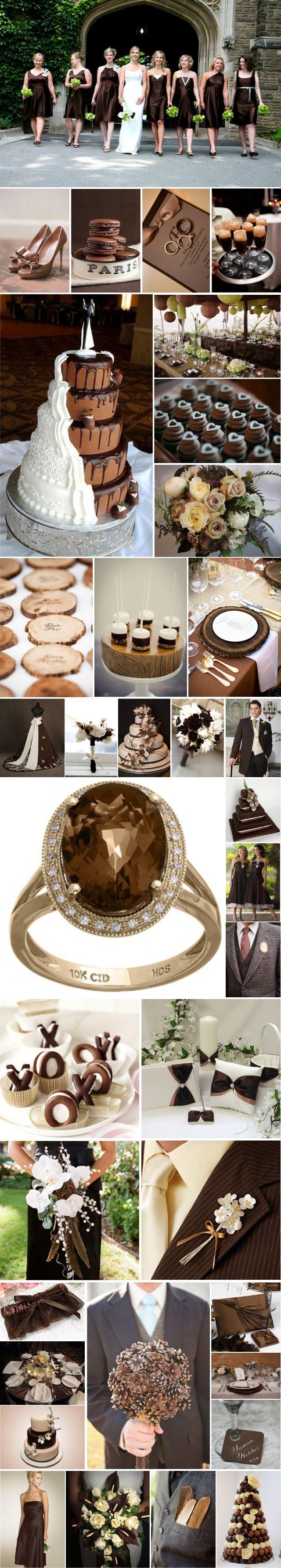Brown wedding inspiration