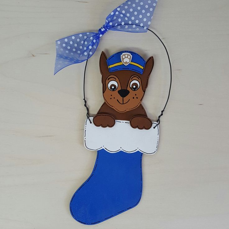 A personal favorite from my Etsy shop https://www.etsy.com/listing/464167748/chase-paw-patrol-christmas-ornament
