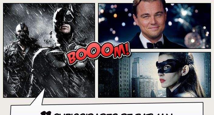Oito anos após os eventos do segundo filme, Batman é forçado a voltar de seu exílio para salvar Gotham City novamente. Com a ajuda da enigmática Mulher-Gato, Batman luta contra o brutal Bane. Confira aqui algumas curiosidades do ultimo filme da trilogia de Nolan!
