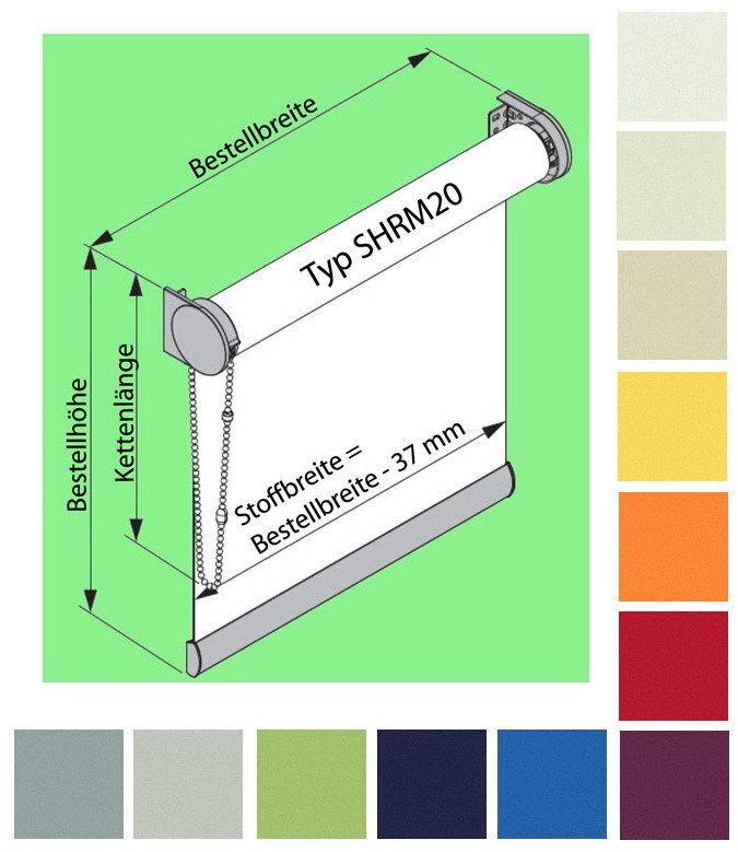 günstige Verdunklungsrollos nach Maß Thermorollo bis 280 cm breit oder hoch