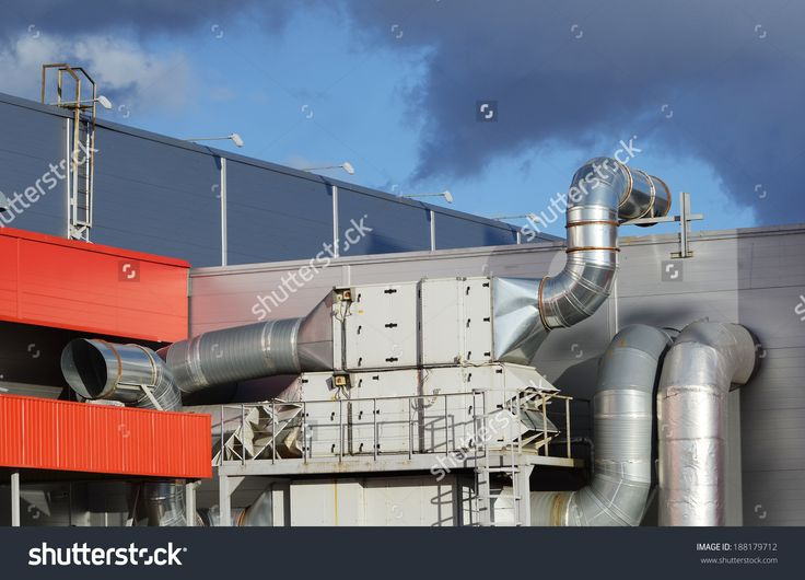 Industrial Steel Air Conditioning And Ventilation Systems Fotka: 188179712 : Shutterstock