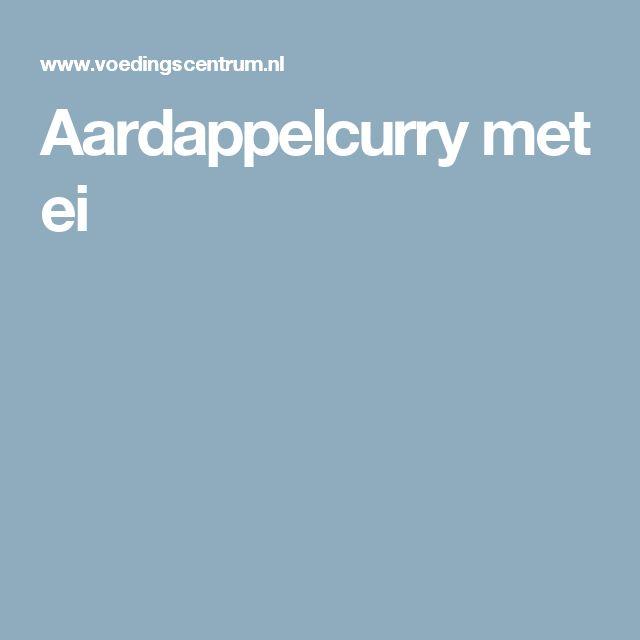 Aardappelcurry met ei