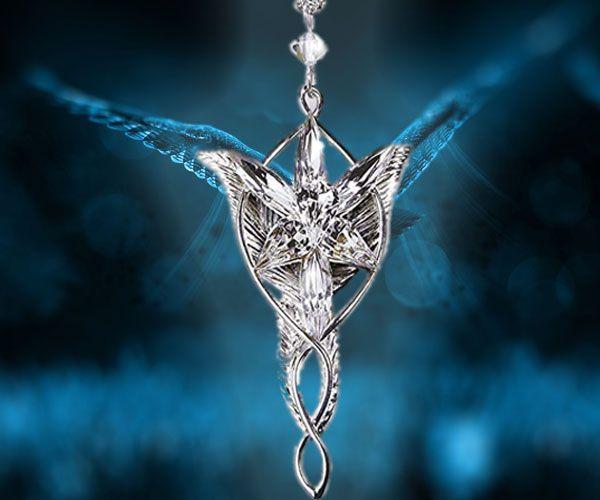 La Estrella De La Tarde De Plata Pura Es Un Símbolo De Poder Sanador De Auspicio Divino Y Fuerza Espiritual Y Restab El Señor De Los Anillos Colgantes Anillos