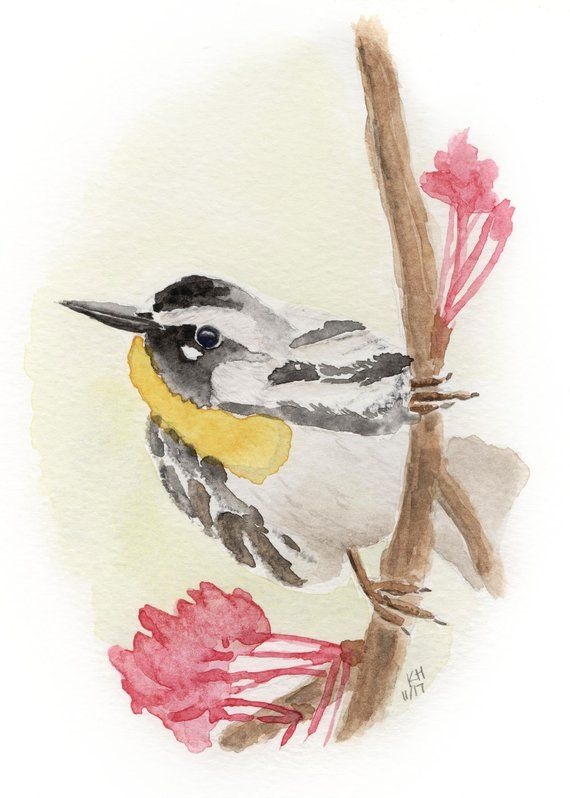Small Bird Painting Yellow Bird Painting Bird Artwork Bird