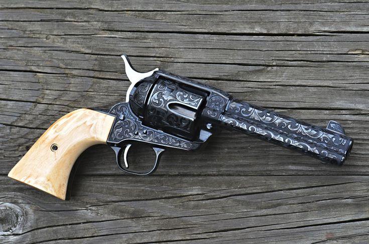 "D Sports Custom gun shop fully engraved Colt .45 LC SAA John Wayne ""Shootist"""