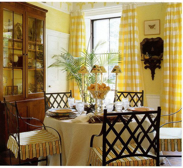 Country Interiors Yellow Dining RoomYellow