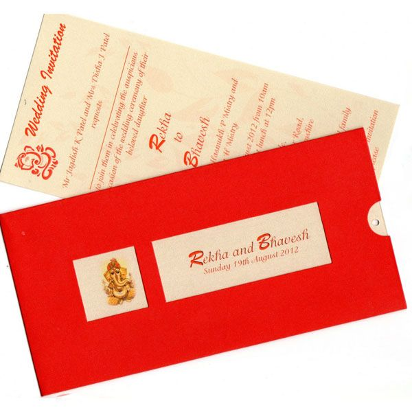 Red Window Ganesh Kankotri / Invitation Card - Fully Customisable!