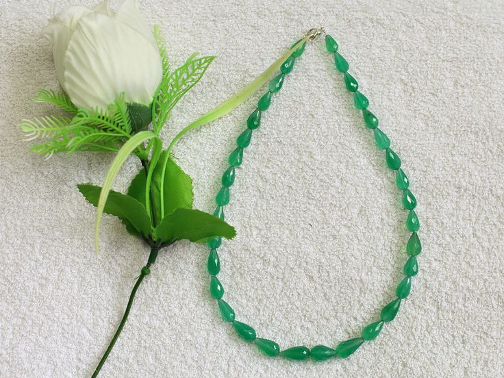 1 Strand 100% Natural AAA Quality Green Onyx Drops Beads Necklace 15x8mmmm-9x6mm Faceted Lobster Lock Gemstone Necklace 15'' Long Strand by zakariyagems on Etsy
