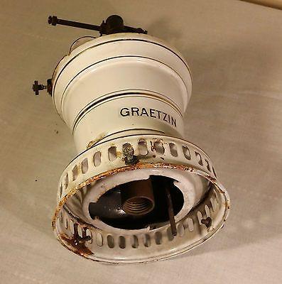Graetzin Émail Lampe à gaz en Allemagne, manchon Lumière, GASLAMPE