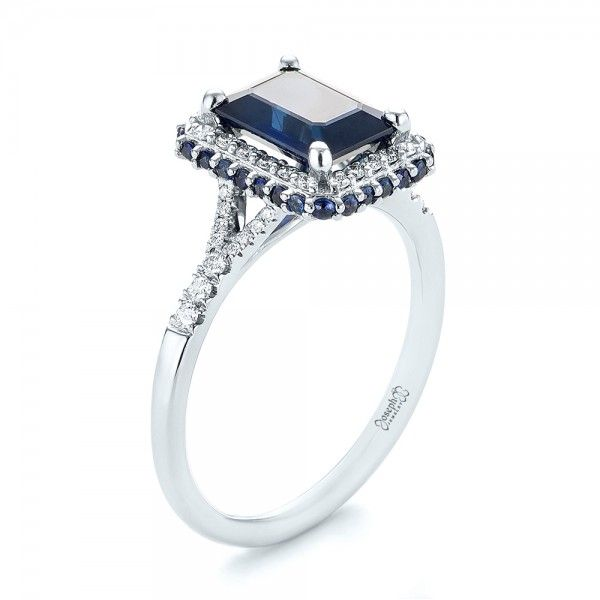 158 Best Images About Sapphire Engagement Rings On Pinterest Halo Custom J