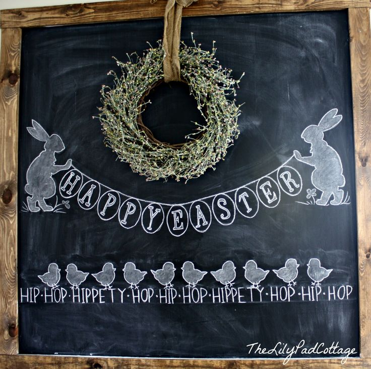 Easter Chalkboard - The Lilypad Cottage