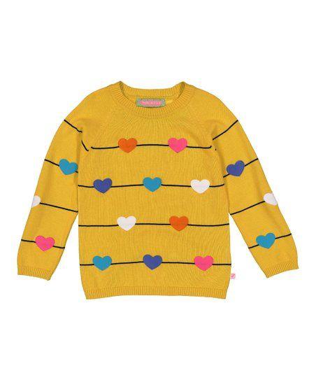 39674d9f6 Sophie   Sam Yellow   Black Stripe Hearts Sweater - Infant