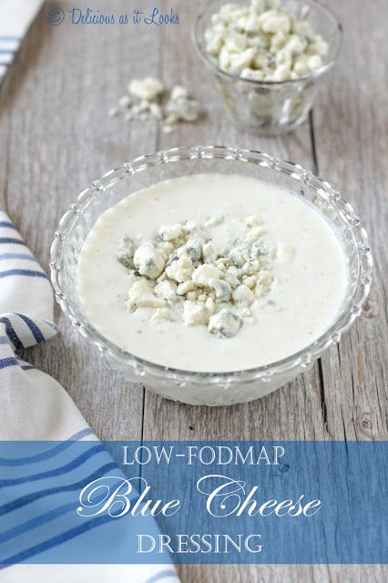 Low-FODMAP Creamy Blue Cheese Dressing (Made with Kefir!)  /  Delicious as it Looks