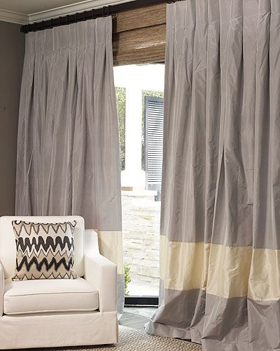 the new parker drape....love everything about this!! The inverted pleats and color blocking/banding! YUM!!