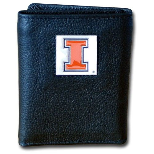 "Checkout our #LicensedGear products FREE SHIPPING + 10% OFF Coupon Code ""Official"" Illinois Fighting Illini Deluxe Leather Tri-fold Wallet - Officially licensed College product Genuine fine grain leather wallet Ample credit card slots Windowed ID slot Metal Illinois Fighting Illini emblem with enameled team colors - Price: $27.00. Buy now at https://officiallylicensedgear.com/illinois-fighting-illini-deluxe-leather-tri-fold-wallet-ctr55bx"