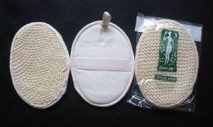 """3 Touch Me 5""""x7"""" Natural Sisal / Terry Bath Pad Scrubber 3 pack by Touch Me. $7.50. Enjoy a refreshing and stimulating bath or shower massage. Pad size: 5"""" x 7"""". Deep cleans skin pores. Natural plant fibers. Stimulate blood circulation. Sisal is obtained from the leaves of a plant in the Agave family. Because of its roughness, sisal makes durable and natural bath scrub product. For skin with a healthy and radiant shine, use this sisal pad to alleviate stress and tension, while s..."""