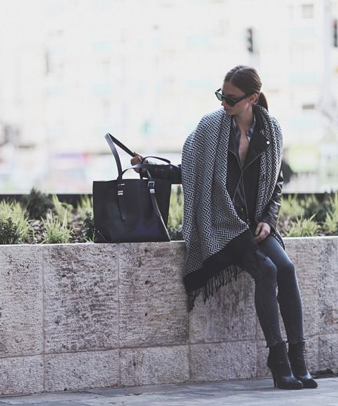 5 Winter Scarves That Are Better Than A Blanket #refinery29  http://www.refinery29.com/winter-scarf-outfits