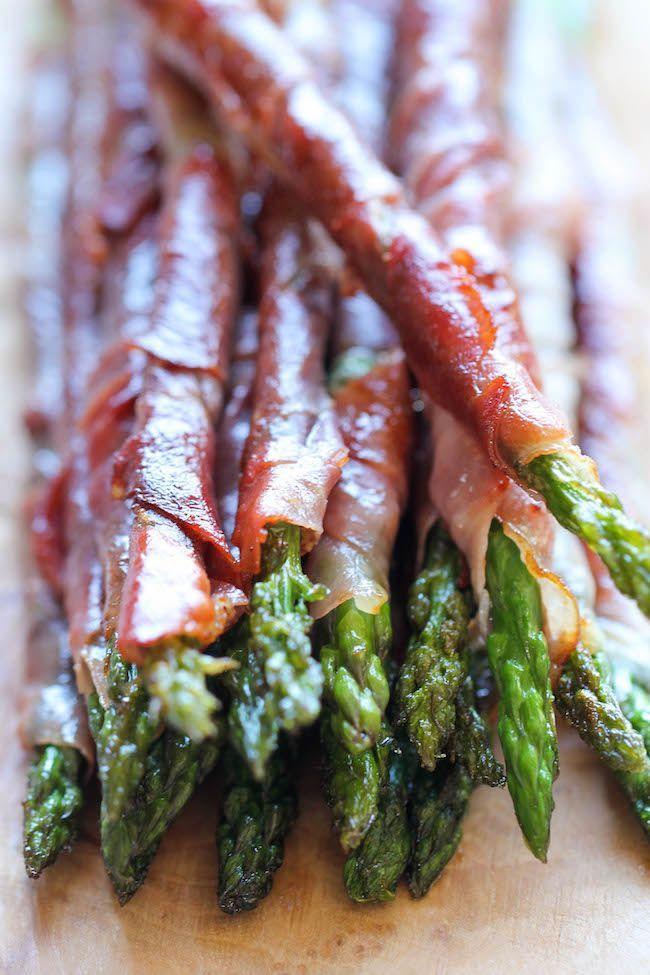 Prosciutto Wrapped Asparagi - Il più facile, la maggior parte antipasto più gustoso con solo 2 ingredienti e 10 min di preparazione!