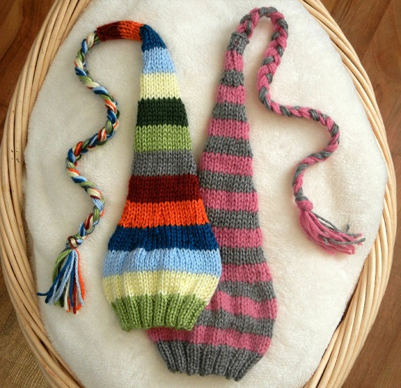 Knitted Stocking Hat Pattern : 17 Best images about Knitting - Baby and Child Size on Pinterest Stockings,...