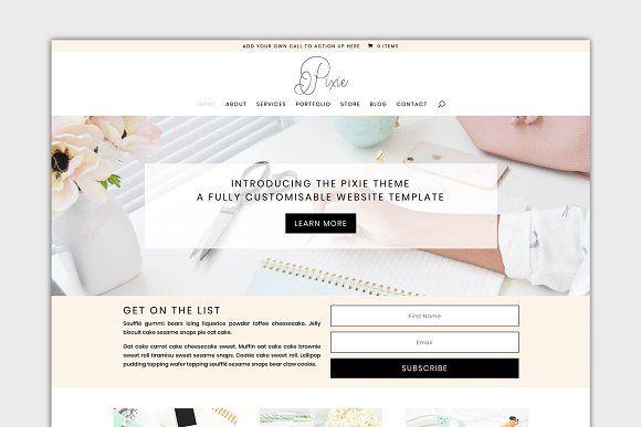 The Pixie Divi Child Wordpress Theme Wordpress Theme Blog Themes Wordpress Corporate Wordpress Themes