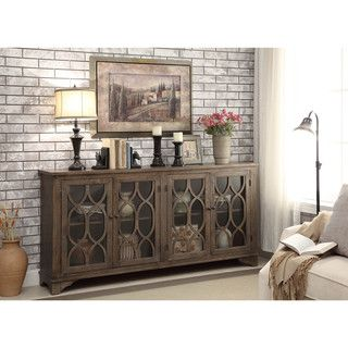Shop for Somette Brown 4-Door Media Credenza. Get free shipping at Overstock.com…