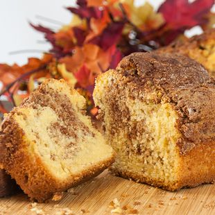 Cinnamon Bread: One box of cake mix makes two loaves of delicious Cinnamon Bread! Eat one and share the other with a friend.